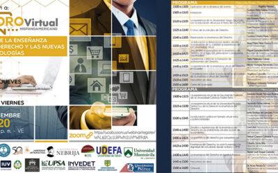 Foro Virtual Hispanoamericano sobre la Enseñanza del Derecho y las Nuevas Tecnologías / 12 y 13 nov 2020